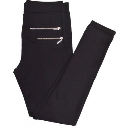 Юношески клин панталон ЦИПОВЕ 12-16 години в черно.
