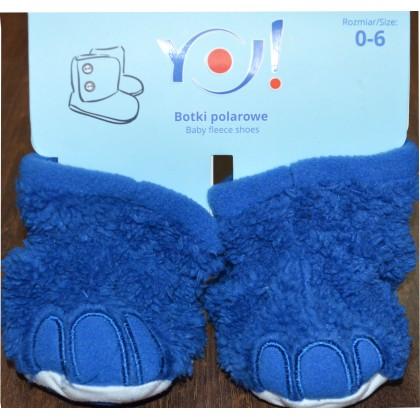 Бебешки меки буйки 0-12 месеца в синьо.