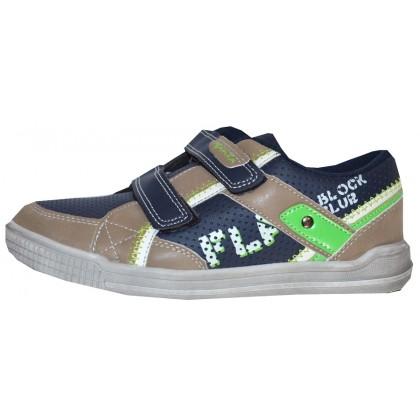 Детски обувки МОМЧЕ 31-36 номер в тъмно синьо.