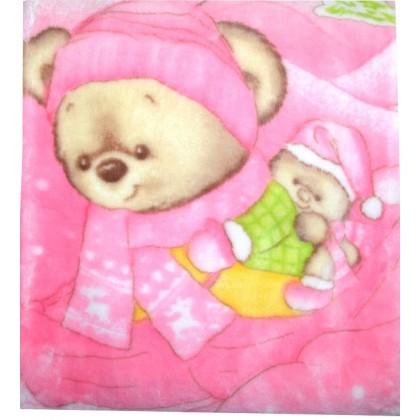 Бебешко одеяло МЕЧЕТА в розово.