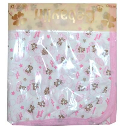 Бебешка памучна пелена в розово.