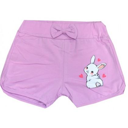 Къси панталони ЗАЙЧЕ 1-6 години в лилаво.