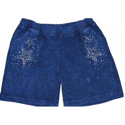 Къси детски панталони СИНИ от 3-8 години.