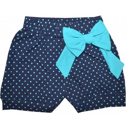 Детски къси панталони СЛАВЕЙКА 98-122 ръст с тюркоазена панделка.