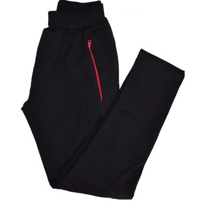 Детски памучен панталон 6-14 години в черно.