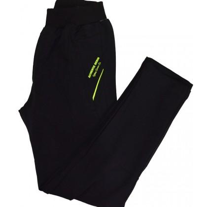 Детски памучен панталон 6-14 години в черно КОД 01.