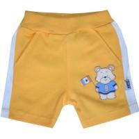 Бебешки къси панталони МЕЧО 56-80 ръст в жълто.
