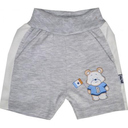 Бебешки къси панталони МЕЧО 56-80 ръст в сиво.