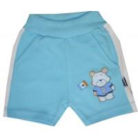 Бебешки къси панталони МЕЧО 56-80 ръст в синьо.