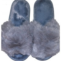Меки пухкави пантофи СИВИ 36-40 номер.