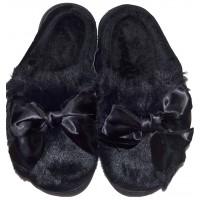 Меки пухкави пантофи ПАНДЕЛКА 36-40 номер в черно.