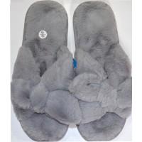 Меки пухкави пантофи 36-40 номер в сиво.