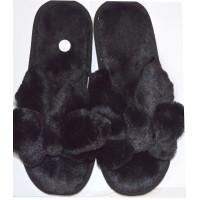 Меки пухкави пантофи 36-40 номер в черно.