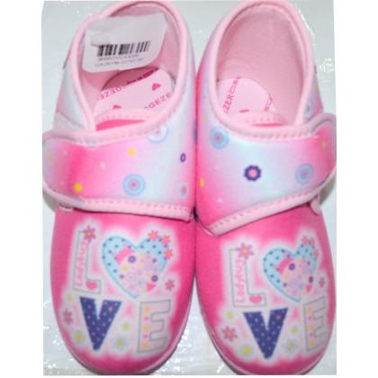 Детски пантофи LOVE 25-30 номер в розово.
