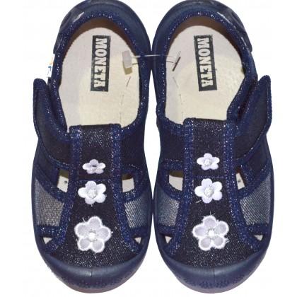 Детски пантофи МОНЕТА 20-25 номер в тъмно синьо.