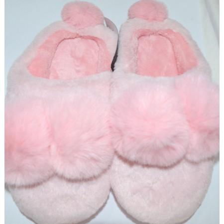 Детски пантофи ПУХЕНИ 26-35 номер в розово.