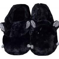 Меки пухкави пантофи ХИПОПОТАМ 30-35 номер в черно.