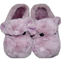 Меки пухкави пантофи ХИПОПОТАМ 30-35 номер в лилаво.