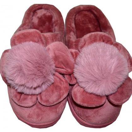 Меки пухкави пантофи ЦВЕТЕ 36-41 номер в пепел розово.