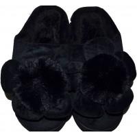 Меки пухкави пантофи ЦВЕТЕ 36-41 номер в черно.