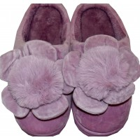 Меки пухкави пантофи ЦВЕТЕ 36-41 номер в лилаво.