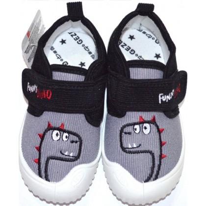 Детски пантофи ДИНО фирма GEZER 25-30 номер в сиво.