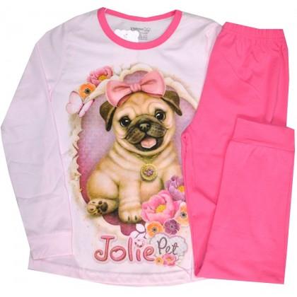 Детска пижама КУЧЕ 134-164 ръст в розово.