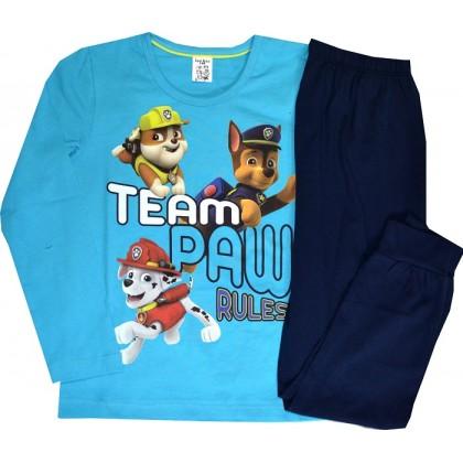 Детска пижама КУЧЕНЦА 6-7 години ИВА ТЕКС в синьо.