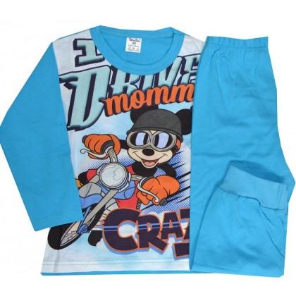Детска пижама М 98-116 ръст в синьо.
