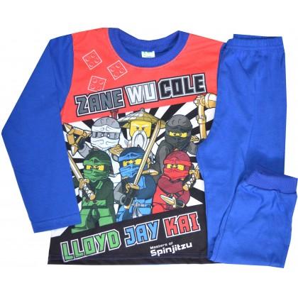 Детска пижама НИНДЖАГО 98-116 ръст в синьо.