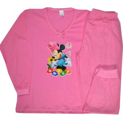 Детска пижама МИНИ МАУС 7-8 години в розово.