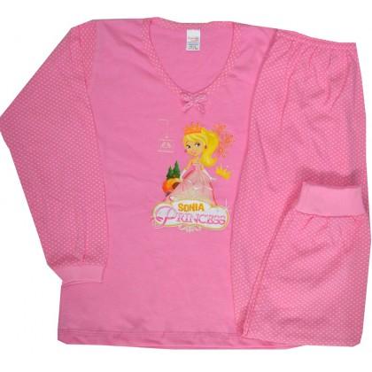 Детска пижама ПРИНЦЕСА 6 години в розово.