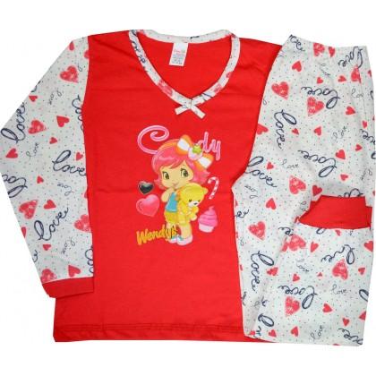 Детска пижама МОМИЧЕНЦЕ С МЕЧЕ 4 години.