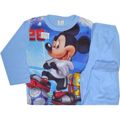 Детска пижама МИКИ МАУС 98-116 ръст в синьо.