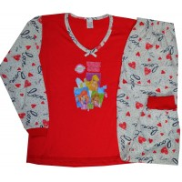 Детска пижама WINX CLUB 6 години в червено.