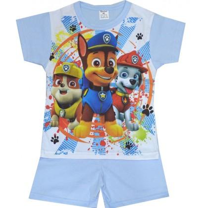 Детска пижама къс ръкав ПЕС ПАТРУЛ 98-116 ръст в синьо.