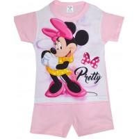 Лятна детска пижама ММ 98-116 ръст в розово.
