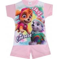 Лятна детска пижама КУЧЕНЦА 98-116 ръст в розово.