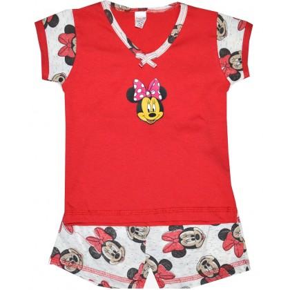Лятна детска пижама МИНИ 1-2 години в червено.