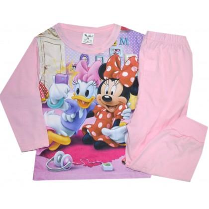 Детска пижама МИНИ И ДЕЙЗИ 86-92 ръст в розово.