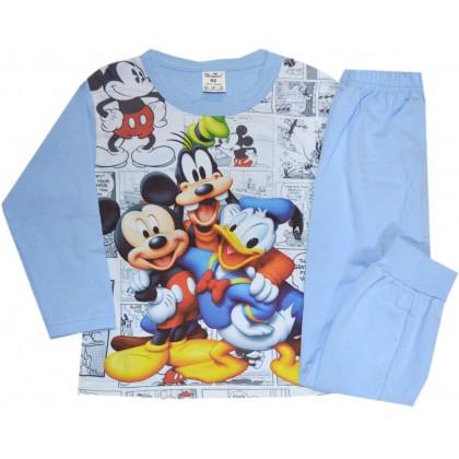 Детска пижама МИКИ И ДОНАЛД 86-92 ръст в синьо.