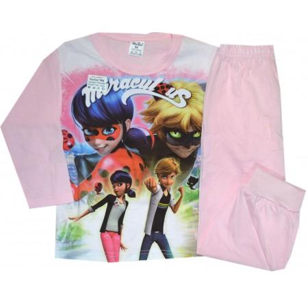 Детска пижама *КАЛИНКА И КОТАРАК* 98-116 ръст в розово.