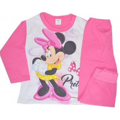 Детска пижама МИНИ МАУС до 116 ръст в циклама.