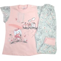 Лятна бебешка пижама ЗАЙЧЕ 62-74 ръст.