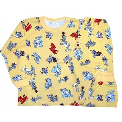 Ватирана детска пижама ТОМ ДЖЕРИ 3-6 години.