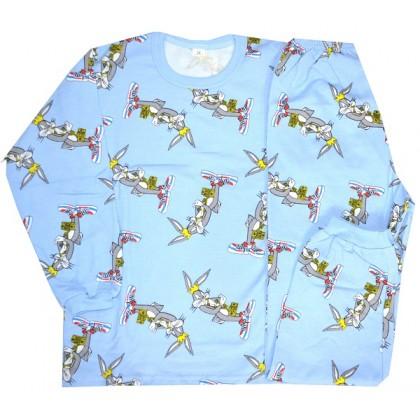 Ватирана детска пижама БЪГС БЪНИ 7-8 години.