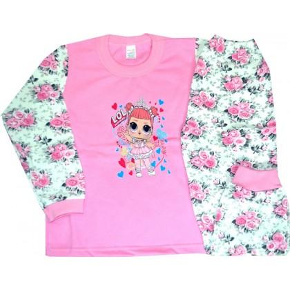Ватирана детска пижама ЛОЛ 3-4 години.