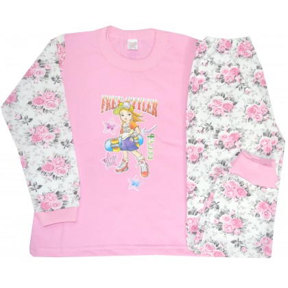 Ватирана детска пижама МОМИЧЕНЦЕ 3-4 години.