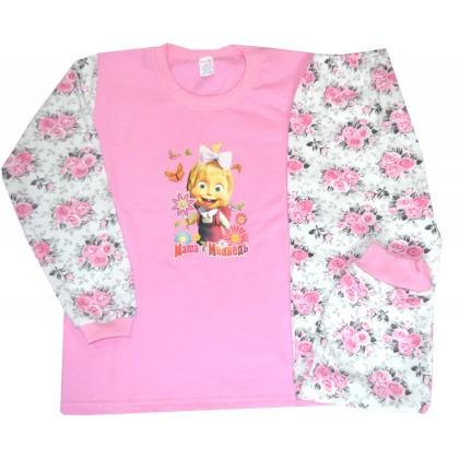 Ватирана детска пижама МАША И МЕЧОКА 6-7 години.