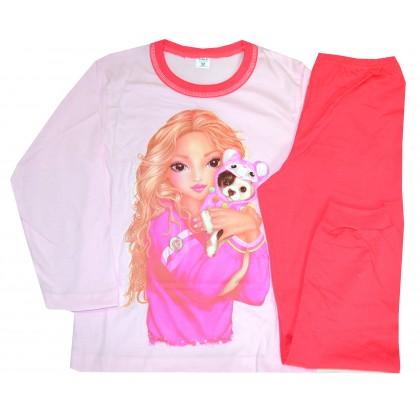 Детска пижама МОМИЧЕ С КУЧЕ 6-8 години.